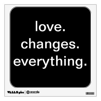 Etiqueta de la pared de la cita del amor vinilo