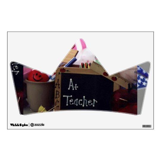 Etiqueta de la pared de la corona 2 del profesor # vinilo adhesivo