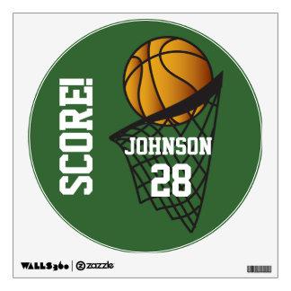 Etiqueta de la pared de la cuenta de baloncesto vinilo adhesivo