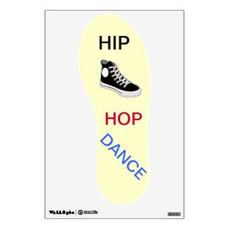 Etiqueta de la pared de la danza de Hip Hop del za Vinilo Adhesivo