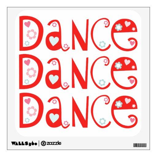Etiqueta de la pared de la danza de la danza de la