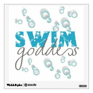 Etiqueta de la pared de la diosa de la nadada vinilo adhesivo