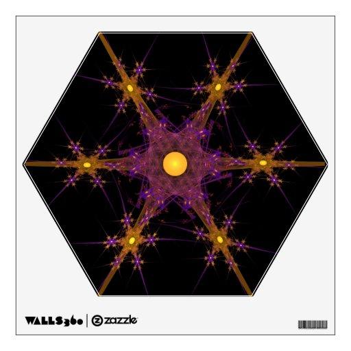 Etiqueta de la pared de la estrella del copo de ni