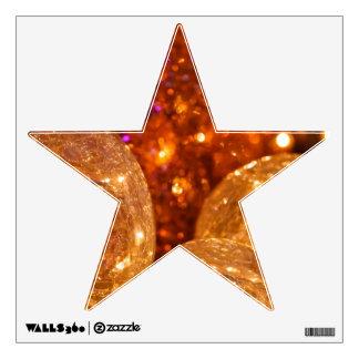 Etiqueta de la pared de la estrella del navidad vinilo