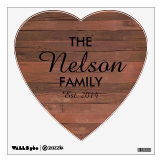 Etiqueta de la pared de la familia del corazón vinilo adhesivo