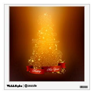 Etiqueta de la pared de la Feliz Año Nuevo de las Vinilo Decorativo