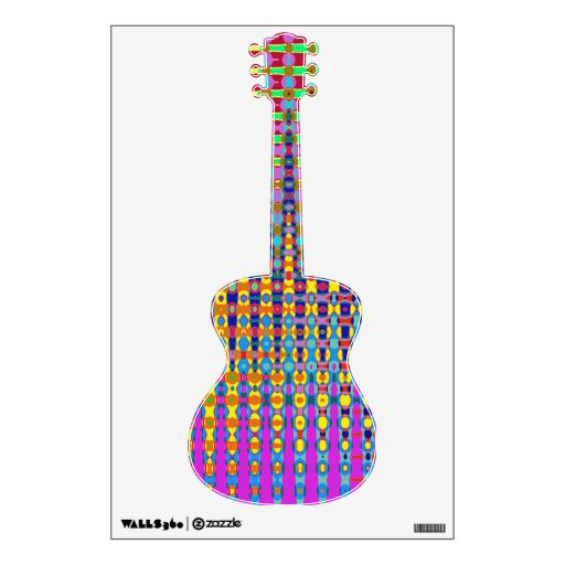 Etiqueta de la pared de la guitarra acústica del P