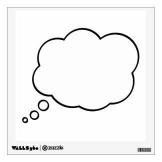 Etiqueta de la pared de la historieta de la burbuj