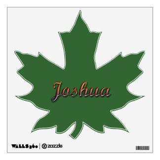 Etiqueta de la pared de la hoja de Joshua_Maple Vinilo Adhesivo