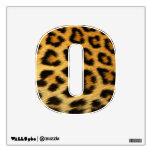 etiqueta de la pared de la impresión del guepardo