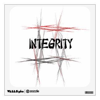 Etiqueta de la pared de la integridad de los artes