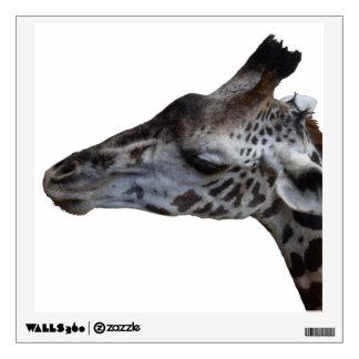 etiqueta de la pared de la jirafa del vinilo adhesivo