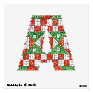 "Etiqueta de la pared de la letra ""A"" del mosaico d"