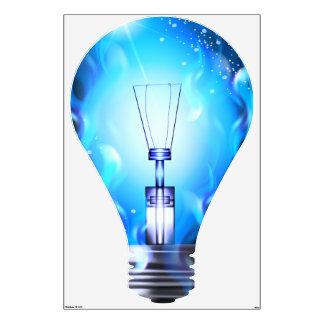 Etiqueta de la pared de la luz 1 vinilo adhesivo