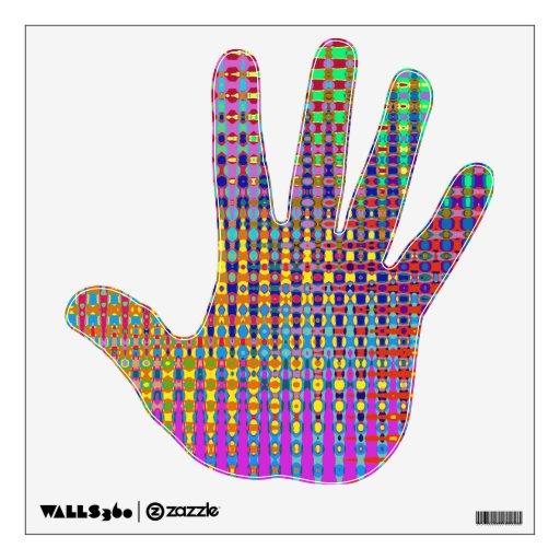 Etiqueta de la pared de la mano del Psychedelia
