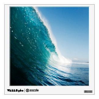 Etiqueta de la pared de la onda de fractura vinilo