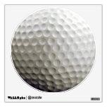 Etiqueta de la pared de la pelota de golf