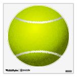 Etiqueta de la pared de la pelota de tenis