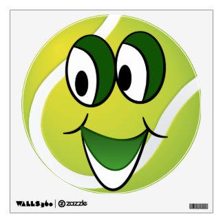 Etiqueta de la pared de la pelota de tenis del dib vinilo