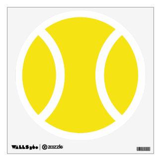 Etiqueta de la pared de la pelota de tenis para la