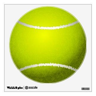 Etiqueta de la pared de la pelota de tenis vinilo decorativo
