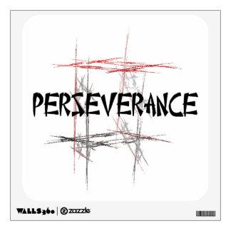 Etiqueta de la pared de la perseverencia de los ar
