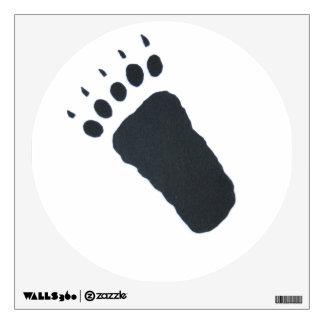 Etiqueta de la pared de la pista del oso