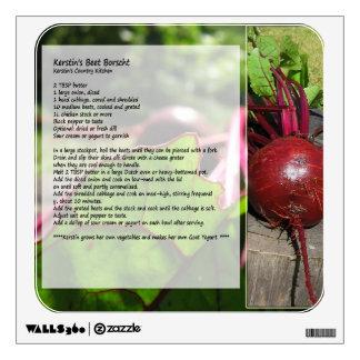 Etiqueta de la pared de la receta del Borscht de l Vinilo Decorativo