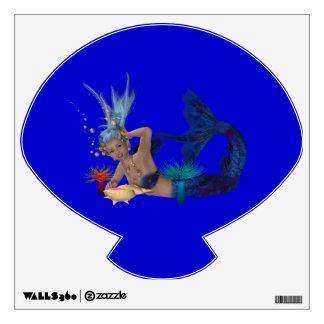 Etiqueta de la pared de la sirena