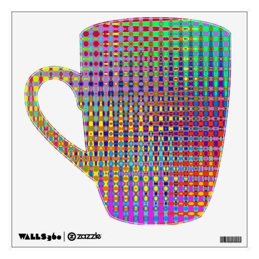 Etiqueta de la pared de la taza del Psychedelia
