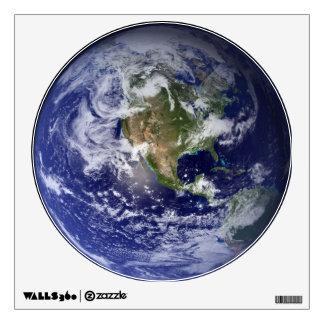 Etiqueta de la pared de la tierra del planeta