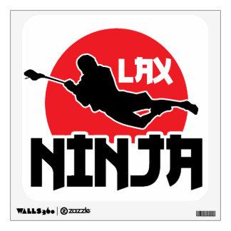 """Etiqueta de la pared de LaCrosse """"LAX Ninja"""" Vinilo Decorativo"""