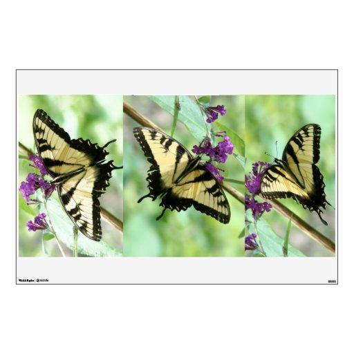 Etiqueta de la pared de las mariposas de Swallowta Vinilo Decorativo