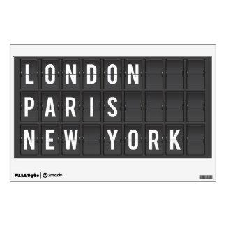 etiqueta de la pared de Londres, de París y de Nue Vinilo