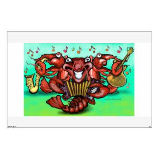 Etiqueta de la pared de los cangrejos