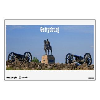 Etiqueta de la pared de los cañones de Gettysburg