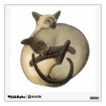 Etiqueta de la pared de los gatos siameses de Yin  Vinilo Adhesivo