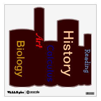Etiqueta de la pared de los libros
