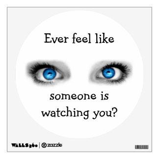Etiqueta de la pared de los ojos que miran vinilo decorativo