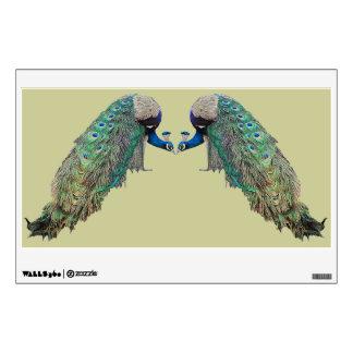 Etiqueta de la pared de los pájaros del pavo real vinilo adhesivo
