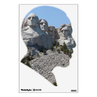 Etiqueta de la pared de Obama el monte Rushmore Vinilo Decorativo