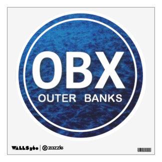 Etiqueta de la pared de OBX Outer Banks Vinilo Adhesivo