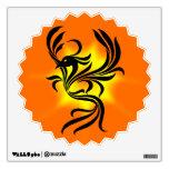 Etiqueta de la pared de Phoenix del resplandor sol
