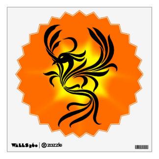 Etiqueta de la pared de Phoenix del resplandor sol Vinilo Decorativo