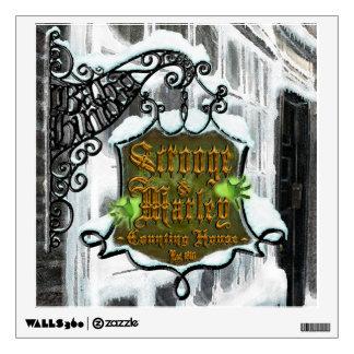 Etiqueta de la pared de Scrooge&MarleySignScene
