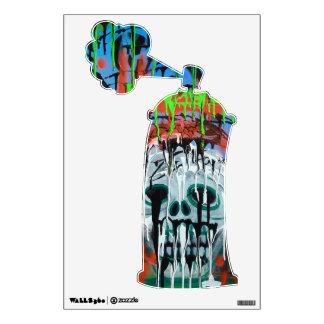 Etiqueta de la pared de Spraycan del cráneo de la  Vinilo Decorativo