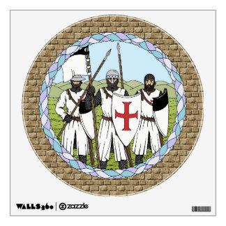 Etiqueta de la pared de Templar de los caballeros Vinilo Decorativo
