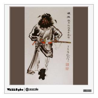 Etiqueta de la pared de Zhong Kui el |