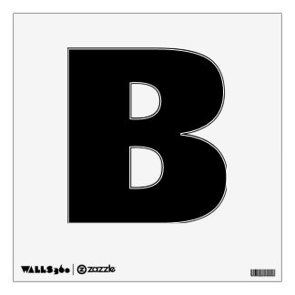 Etiqueta de la pared del alfabeto de B