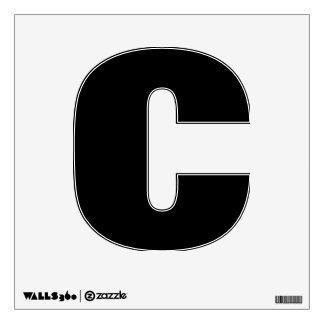 Etiqueta de la pared del alfabeto de C